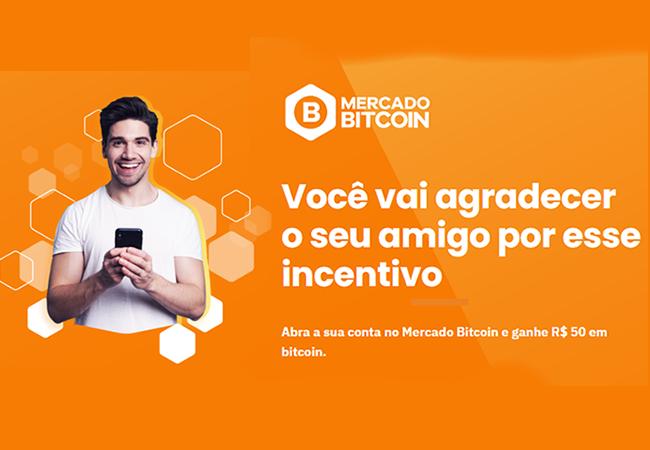 Mercado Bitcoin está dando R$ 50 em BTC para quem investir R$ 100