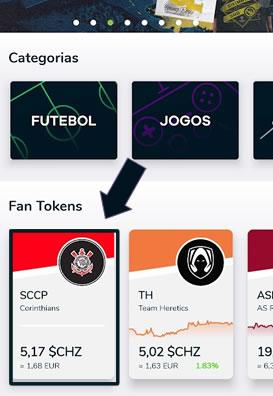 Selecione o box para comprar o Fan Token do Corinthians