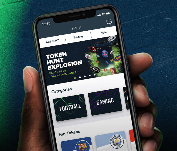 App Socios.com onde está disponível o Fan Token do Corinthians